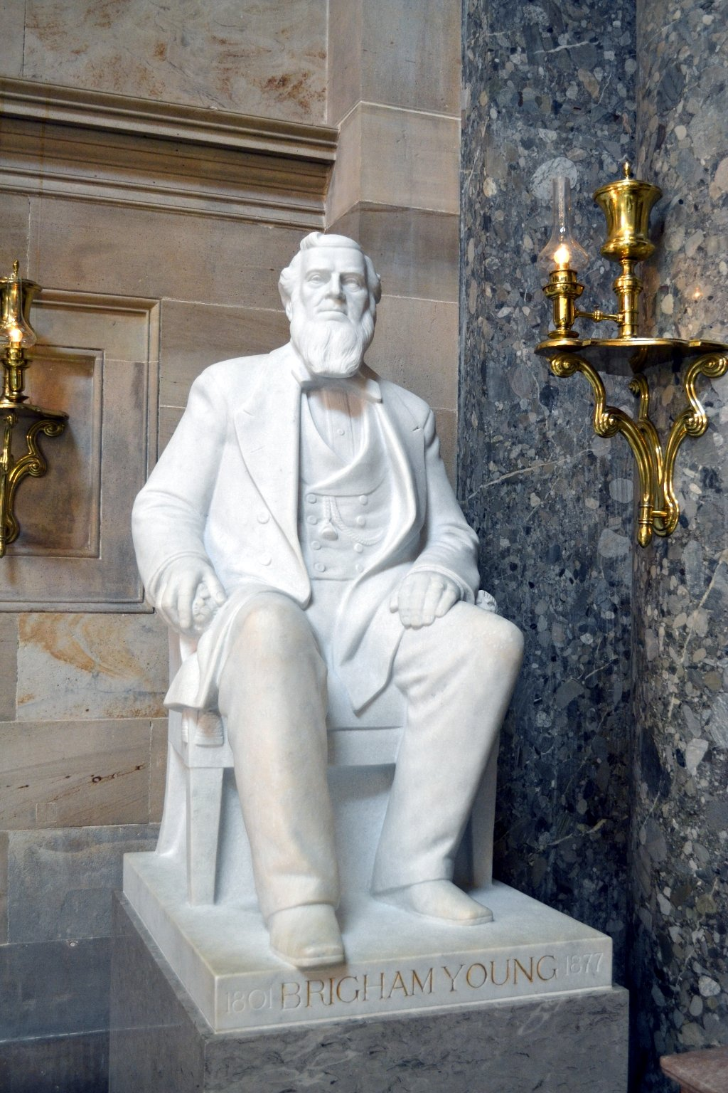 Brigham Young Statue at the U.S. Capitol Building
